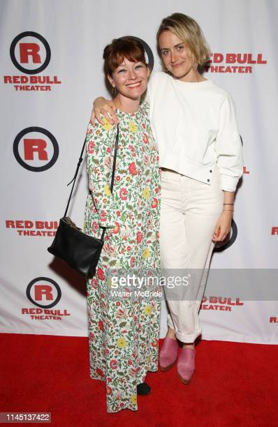 Erica Schmidt and Taylor Schilling attend the Opening Night Party for Red Bull Theater's AllFemale Macbeth at Houston Hall on May 19 2019 in New York...