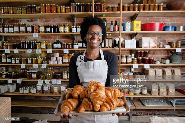 DC Erica Solnik baker of extraordinary croissants as part of her Frenchies DC business Seen at the Seasonal Pantry on Friday August 23 2013 in...