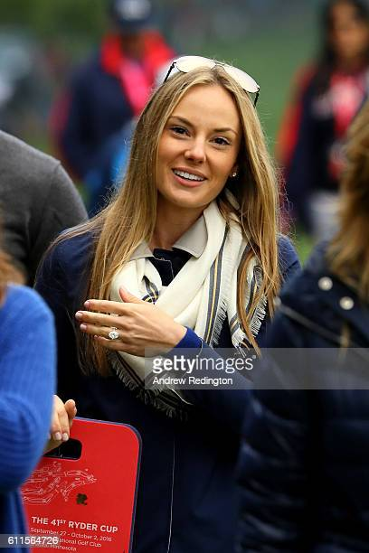 Erica Stoll looks on during morning foursome matches of the 2016 Ryder Cup at Hazeltine National Golf Club on September 30 2016 in Chaska Minnesota