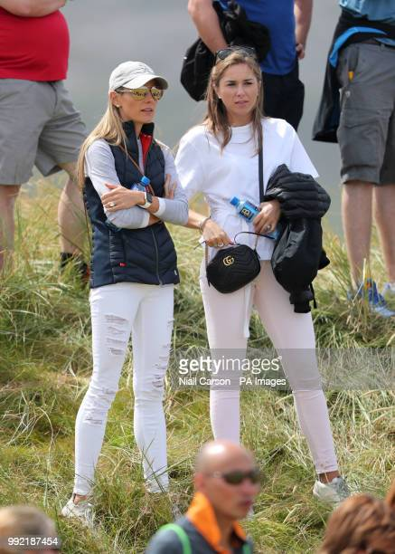 Erica Stoll wife of Northern Ireland's Rory McIlroy during day one of the Dubai Duty Free Irish Open at Ballyliffin Golf Club