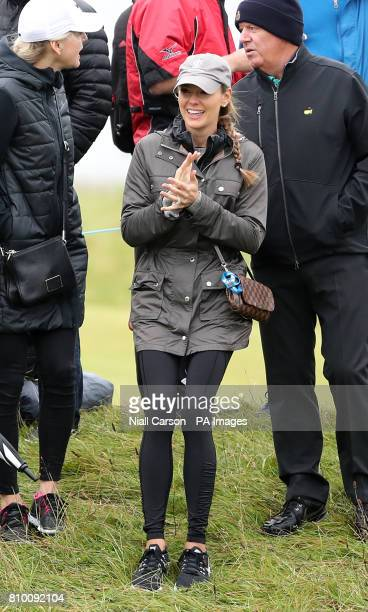 Erica Stoll wife of Northern Ireland's Rory McIlroy during day two of the Dubai Duty Free Irish Open at Portstewart Golf Club