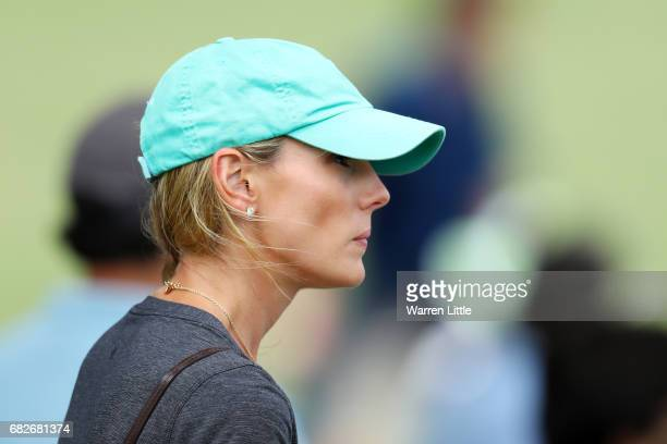 Erica Stoll wife of Rory McIlroy of Northern Ireland looks on during the third round of THE PLAYERS Championship at the Stadium course at TPC...