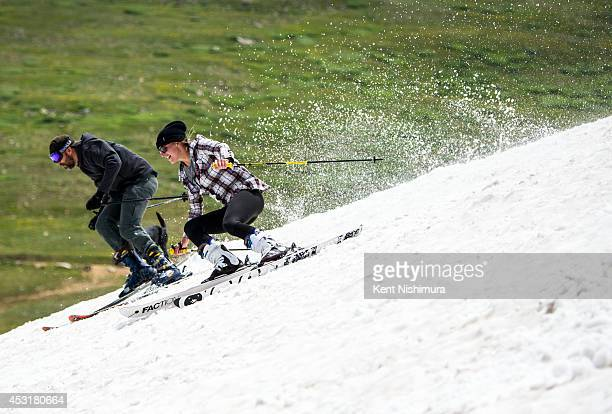 Erica Thomas of Winter Park moves to overtake Emur Jensen of Fraser during the 49th running of the Epworth Cup an unofficial ski race atop Corona...