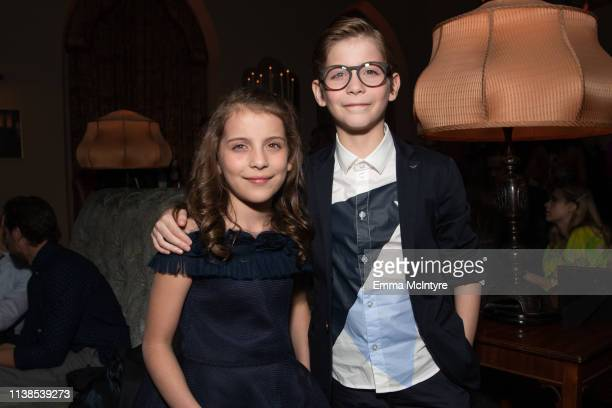 Erica Tremblay and Jacob Tremblay attend the after party for the CBS All Access new series The Twilight Zone at the Harmony Gold Preview House and...