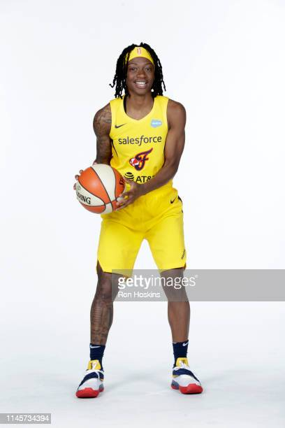 Erica Wheeler of the Indiana Fever poses for a portrait during the WNBA Media Day at Bankers Life Fieldhouse on May 20, 2019 in Indianapolis,...