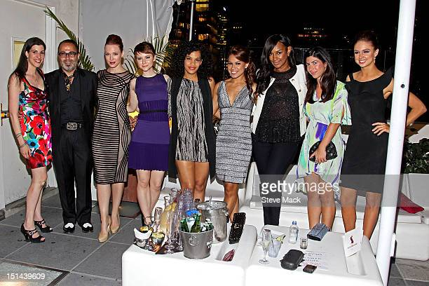 Erica Wolf Christo Erin Cummings Valorie Curry guest Toni Trucks Jackie Christie Claudine DeSola and Chambers Steedle at Sky Room on September 6 2012...