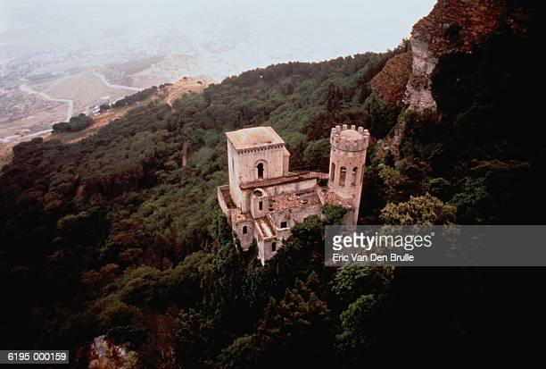 erice castle - eric van den brulle stock pictures, royalty-free photos & images