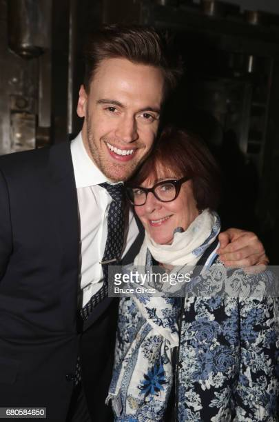 Erich Bergen and mother Alison Lee pose at An American Daughter Benefit Reading at The Tony Kiser Second Stage Theatre on May 8 2017 in New York City