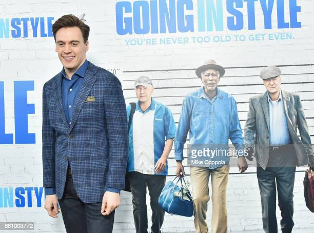 Erich Bergen attends the Going In Style New York Premiere at SVA Theatre on March 30 2017 in New York City