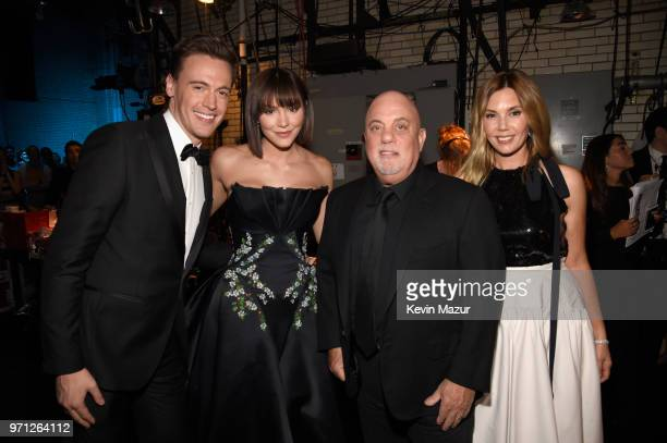 Erich Bergen Katharine McPhee Billy Joel and Alexis Roderick pose backstage during the 72nd Annual Tony Awards at Radio City Music Hall on June 10...
