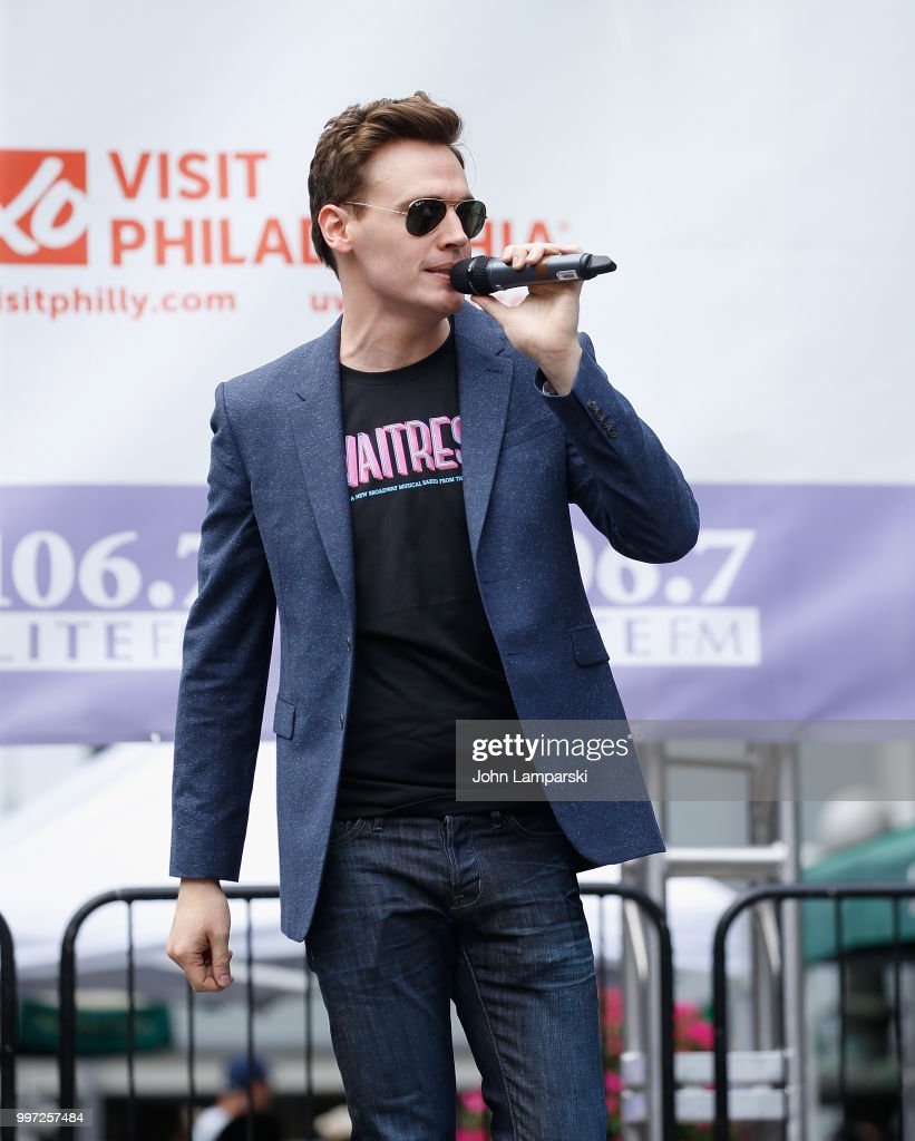 Erich Bergen of Waitress performs during 106.7 LITE FM's Broadway in Bryant Park on July 12, 2018 in New York City.