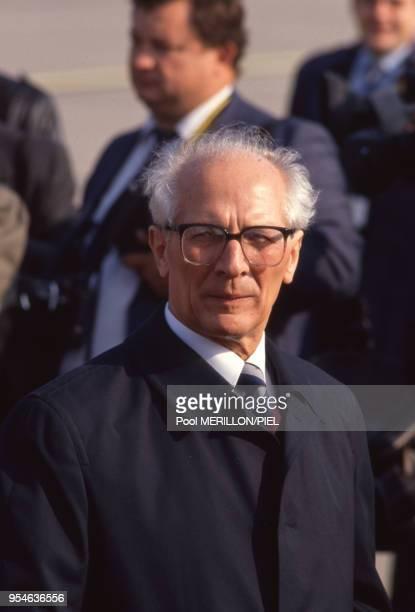 Erich Honecker aux cérémonies à Berlin Est RDA le 6 octobre 1989