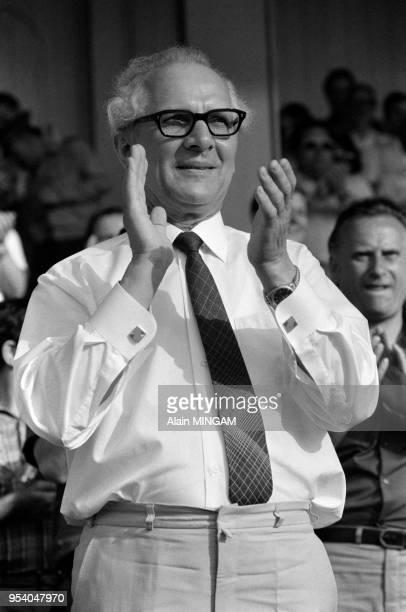 Erich Honecker lors des manifestations célébrant le 30ème anniversaire de la fondation de la RDA à BerlinEst le 1er juin 1979 Allemagne