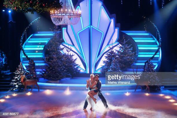 Erich Klann and Magdalena Brzeska attend the 'Let's Dance - Let's Christmas' Show on December 20, 2013 in Cologne, Germany.