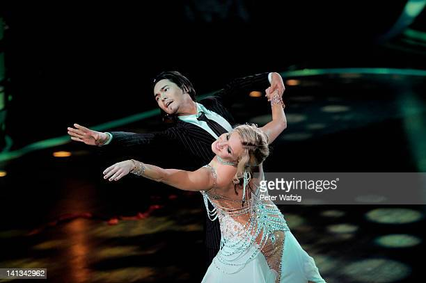 Erich Klann and Magdalena Brzeska perform during the 'Let's Dance' TV Show on March 14 2012 in Cologne Germany