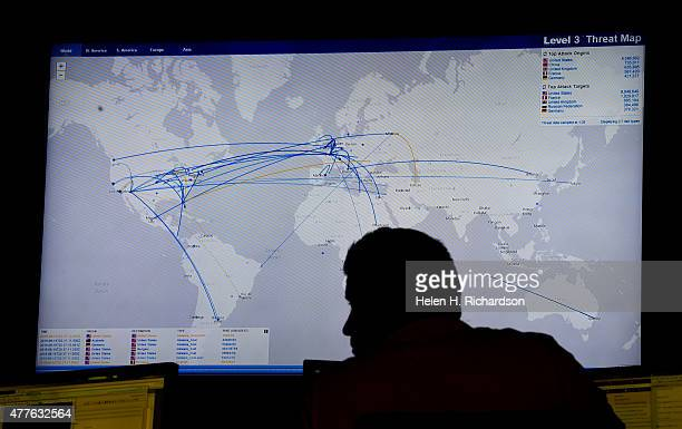 Erich Rojas a security technician in the Security Operation Center at Level 3 Communications monitors continuos malware phishers and hackers...