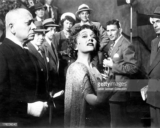 Erich von Stroheim as Max von Mayerling and Gloria Swanson as Norma Desmond in the final scene of 'Sunset Boulevard' directed by Billy Wilder 1950