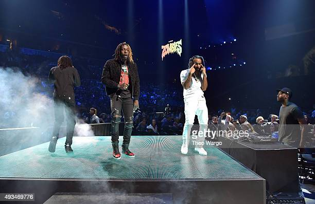Erick Arc Elliott Meechy Darko and Zombie Juice of Flatbush Zombies perform onstage during TIDAL X 1020 Amplified by HTC at Barclays Center of...