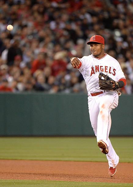 Erick Aybar of the Los Angeles Angels