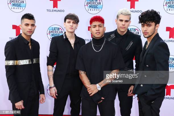 Erick Brian Colon, Christopher Velez, Richard Camacho, Zabdiel de Jesus, and Joel Pimentel of CNCO attend the 2019 Latin American Music Awards at...