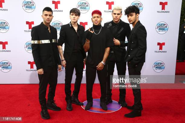 Erick Brian Colon, Christopher Velez, Richard Camacho, Zabdiel de Jesus, and Joel Pimentel of CNCO attends the 2019 Latin American Music Awards at...