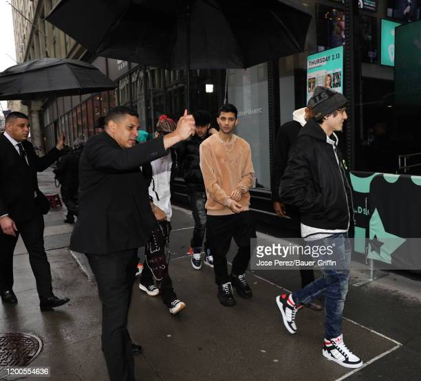 Erick Brian Colon of the Cnco boy band is seen at the Build building on February 13 2020 in New York City
