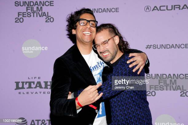 Erick Castrillon and Esteban Arango attend the 2020 Sundance Film Festival Blast Beat Premiere at The Ray on January 26 2020 in Park City Utah
