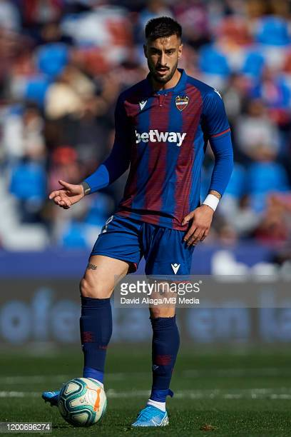 Erick Cathriel Cabaco Almada of Levante UD in action during the Liga match between Levante UD and Deportivo Alaves at Ciutat de Valencia on January...