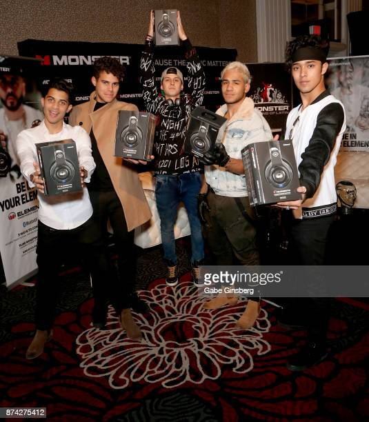 Erick Colon, Zabdiel De Jesus, Christopher Velez, Richard Camacho, and Joel Pimentel of CNCO attend the gift lounge during the 18th annual Latin...