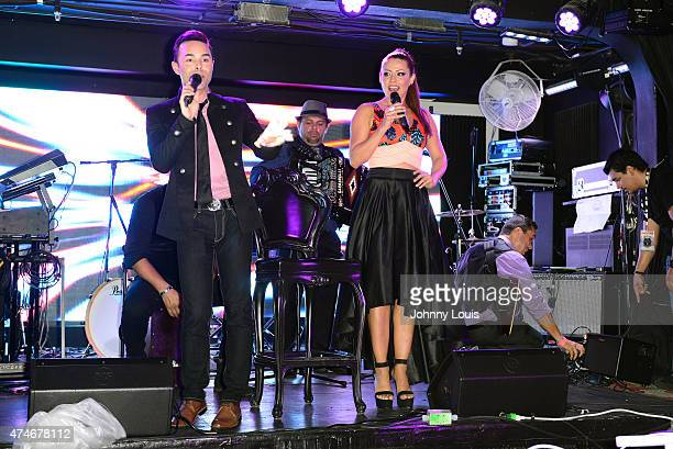 Erick Cuesta and Dayana Garroz attend the Billboard Latin Music Conference and Awards day 1 during the Mas Y Mas Musica Sixth Edition Artist Showcase...