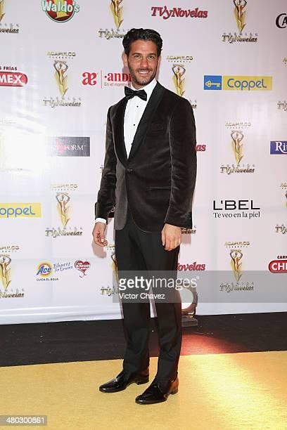 Erick Elías attends the Premios Tv y Novelas 2014 at Televisa Santa Fe on March 23 2014 in Mexico City Mexico