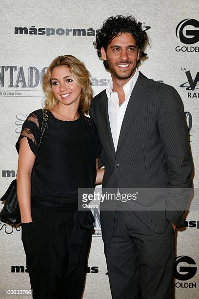 Erick Elias and Karla Guindi pose for a photo at the red carpet of the premiere of the movie El Atentado at Teatro Metropolitan on August 24 2010 in...
