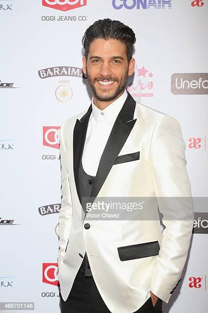 Erick Elias arrives at Premios TV y Novelas 2015 at Televisa San Angel on March 9 2015 in Mexico City Mexico