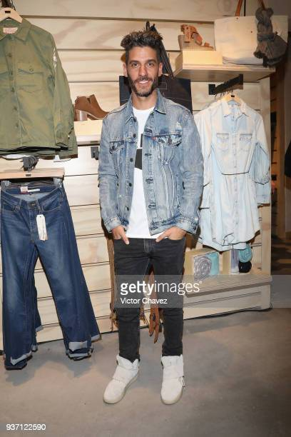 Erick Elias attends the Levi's Flagship Madero store opening at historical center streets on March 22, 2018 in Mexico City, Mexico.