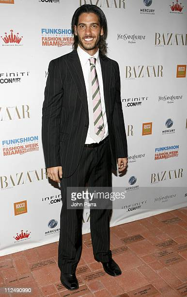 Erick Elias during Miami Fashion Week 2006 - Harpers Bazaar en Espanol Collection - Arrivals at Knight Concert Hall in Miami, Florida, United States.
