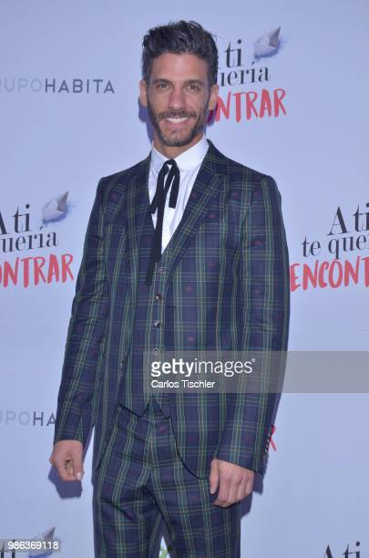 Erick Elias poses during the red carpet of the Mexican film 'A ti te queria encontrar' at Cinemex Antara on June 26, 2018 in Mexico City, Mexico.