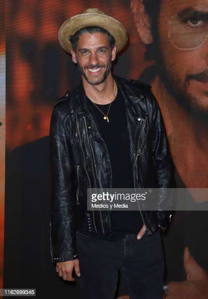 Erick Elias poses for photos on the red carpet for the 'Jesucristo Superestrella' premiere at Centro Cultural 1 on July 17, 2019 in Mexico City,...