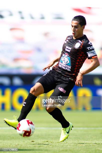 Erick Germain Aguirre in action during a match between Pachuca and Atletico San Luis as part of the friendly tournament Copa Telcel at Leon Stadium...