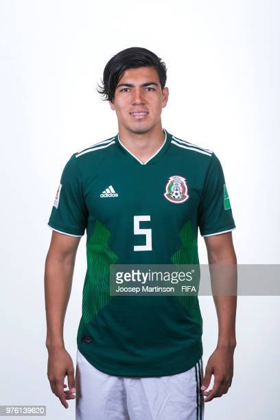 Erick Gutierrez of Mexico poses during the official FIFA World Cup 2018 portrait session at on June 16 2018 in Moscow Russia