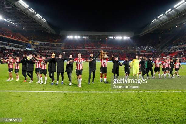 Erick Gutierrez of PSV Hirving Lozano of PSV Nicolas Isimat Mirin of PSV Yanick van Osch of PSV Pablo Rosario of PSV Aziz Behich of PSV Eloy Room of...