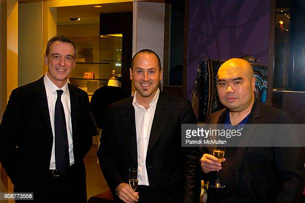 Erick Horlin Du Houx Frank Zambrelli and Andrew Gn attend LEIBER Celebrates The Launch of Andrew Gn Fall 2007 Collection at Leiber Boutique on...