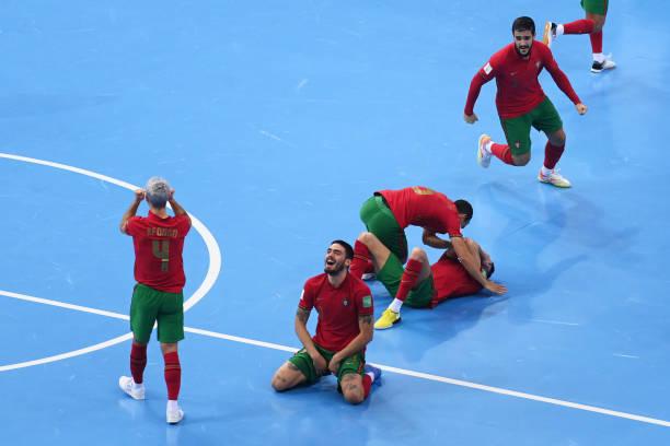 LTU: Portugal v Kazakhstan: Semi Final - FIFA Futsal World Cup 2021