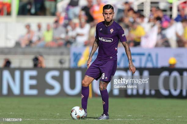 Erick Pulgar of ACF Fiorentina in action during the Serie A match between ACF Fiorentina and Juventus at Stadio Artemio Franchi on September 14 2019...