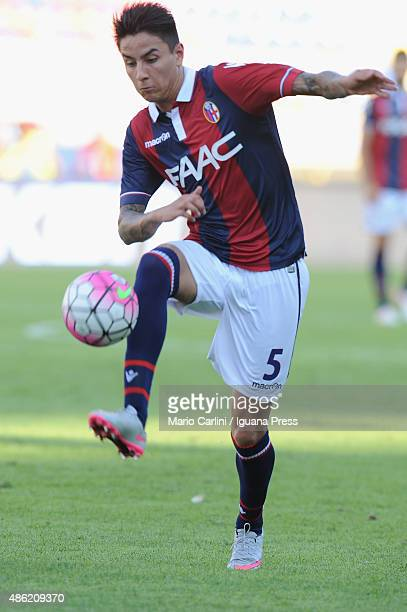 Erick Pulgar of Bologna FC in action during the Serie A match between Bologna FC and US Sassuolo Calcio at Stadio Renato Dall'Ara on August 29 2015...
