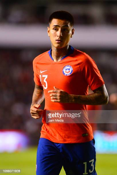 Erick Pulgar of Chile runs during the international friendly match between Mexico and Chile at La Corregidora Stadium on October 16 2018 in Queretaro...