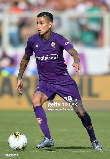 Erick Pulgar of Fiorentina ACF in action during the Serie A match between ACF Fiorentina and Juventus at Stadio Artemio Franchi on September 14 2019...