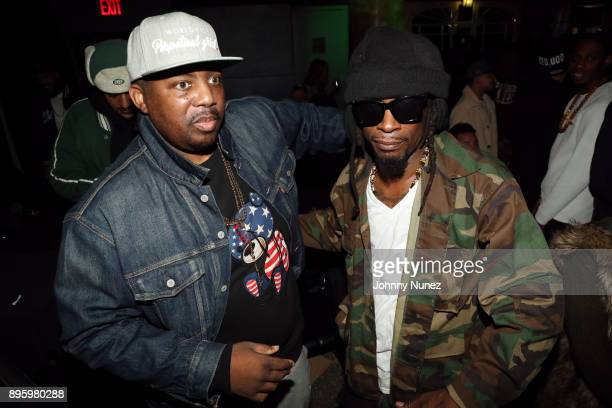 Erick Sermon and Mr Cheeks attend the 13 Sins Album Release Party at SOB's on December 19 2017 in New York City