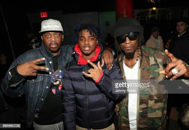 Erick Sermon Lougotcash and Mr Cheeks attend the 13 Sins Album Release Party at SOB's on December 19 2017 in New York City