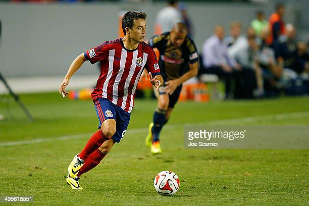 Erick Torres of Chivas USA looks to cross the ball in the second half at StubHub Center on May 31 2014 in Los Angeles California