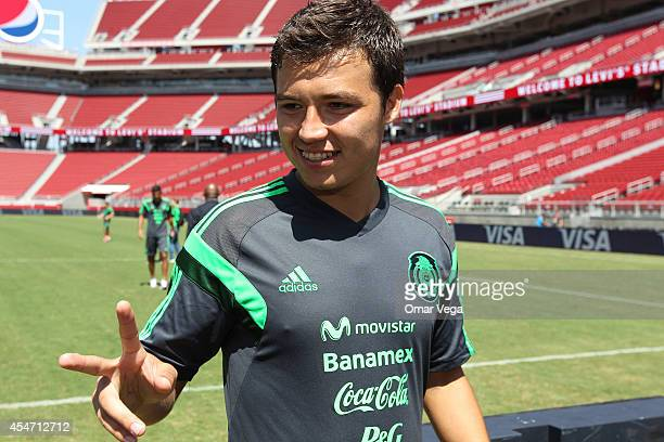 Erick Torres Padilla of Mexico smiles during Mexico's National Team training session at Levi's Stadium September 05 2014 in Santa Clara United States